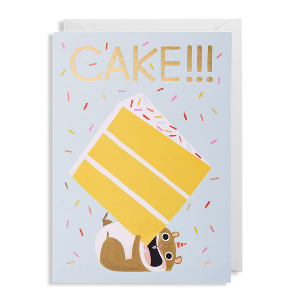 Cake! Hamster Birthday Card by Allison Black for Lagom