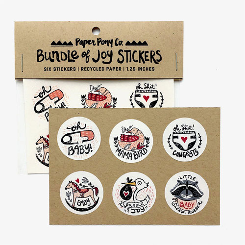 Bundle of Joy Stickers from Paper Pony Co.