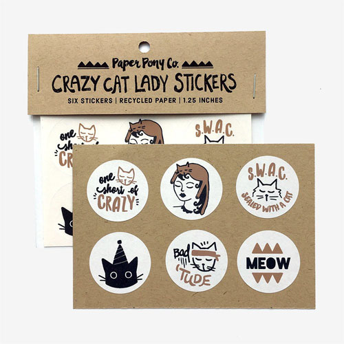 Crazy Cat Lady Stickers from Paper Pony Co.