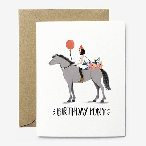 Birthday Pony Card from Paper Pony Co.