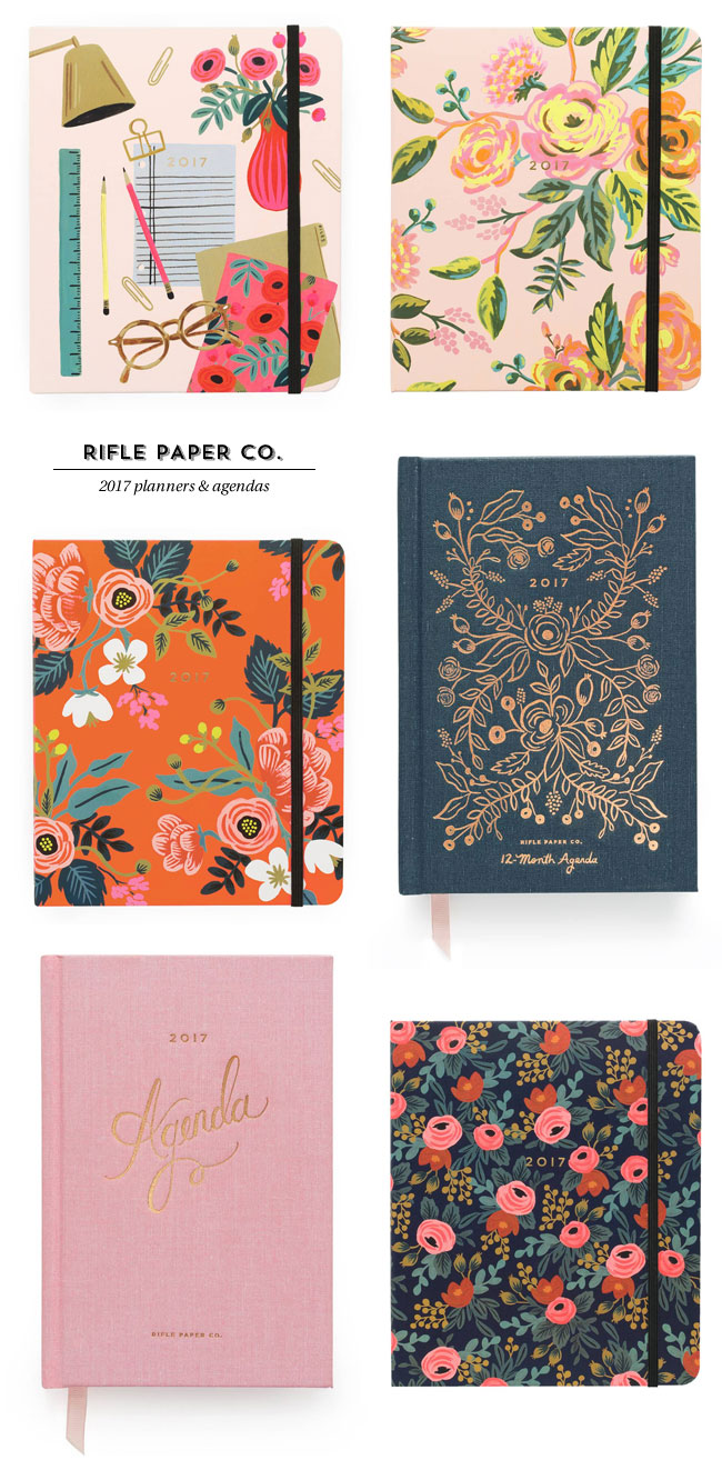 2017 Planners & Agendas from Rifle Paper Co.