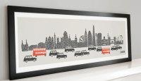 Fox & Velvet Panoramic London City Print