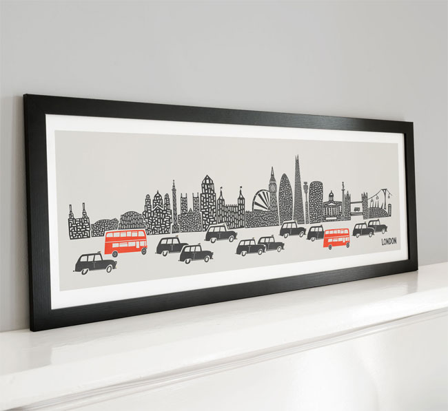 Fox & Velvet Panoramic London City Print