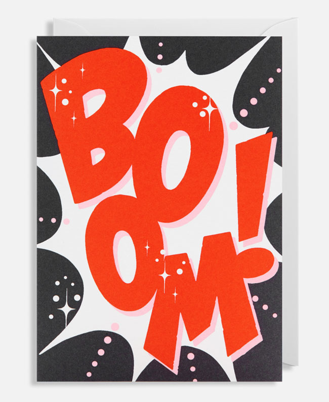 Boom! Hand Lettered Card by Alison Carmichael for Lagom