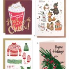 Illustrated & Hand Lettered Holiday Cards
