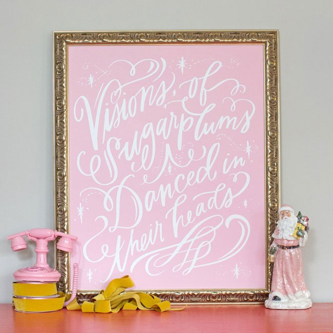 Visions of Sugarplums Canvas Print from Lindsay Letters