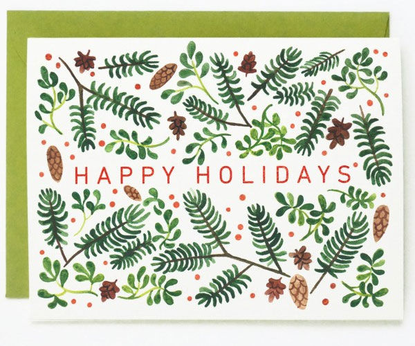 Holiday Foliage Greeting Card by Quill & Fox