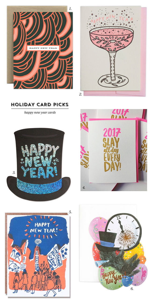 Holiday Card Picks : Happy New Year Cards