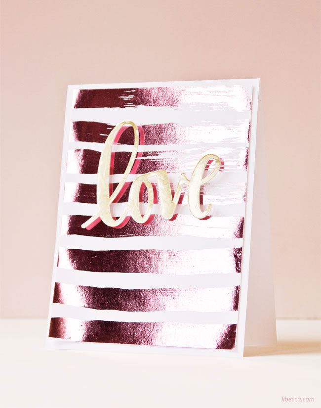DIY Hot Foil Card (Video Tutorial)