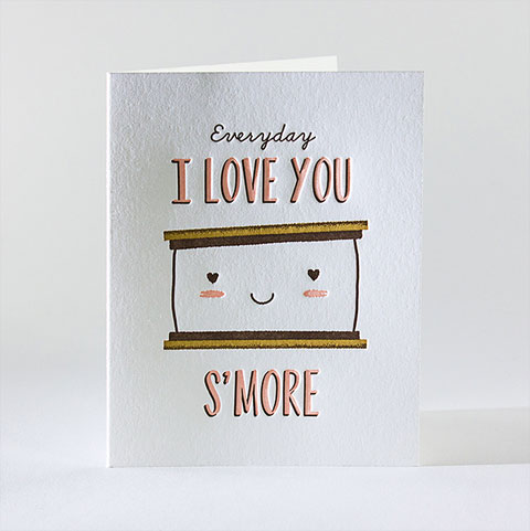 Love You S'More Letterpress Card | elum