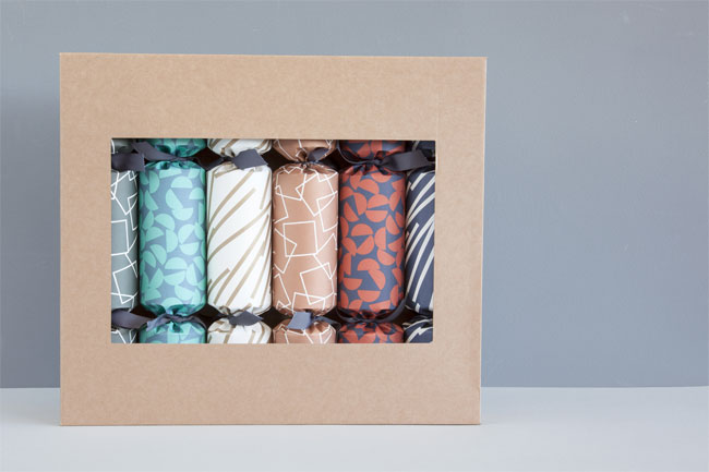 Modern Pattern Christmas Crackers from ola