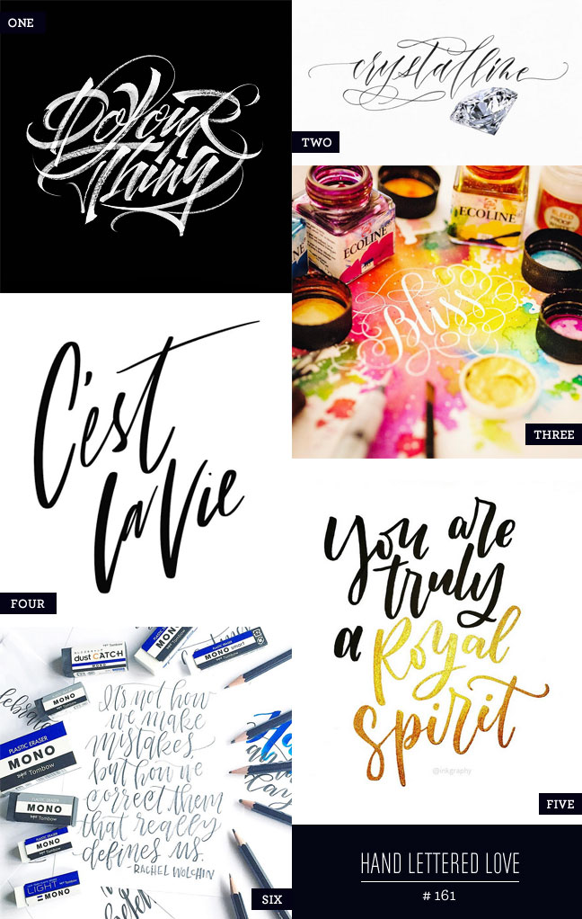 Hand Lettered Love #161