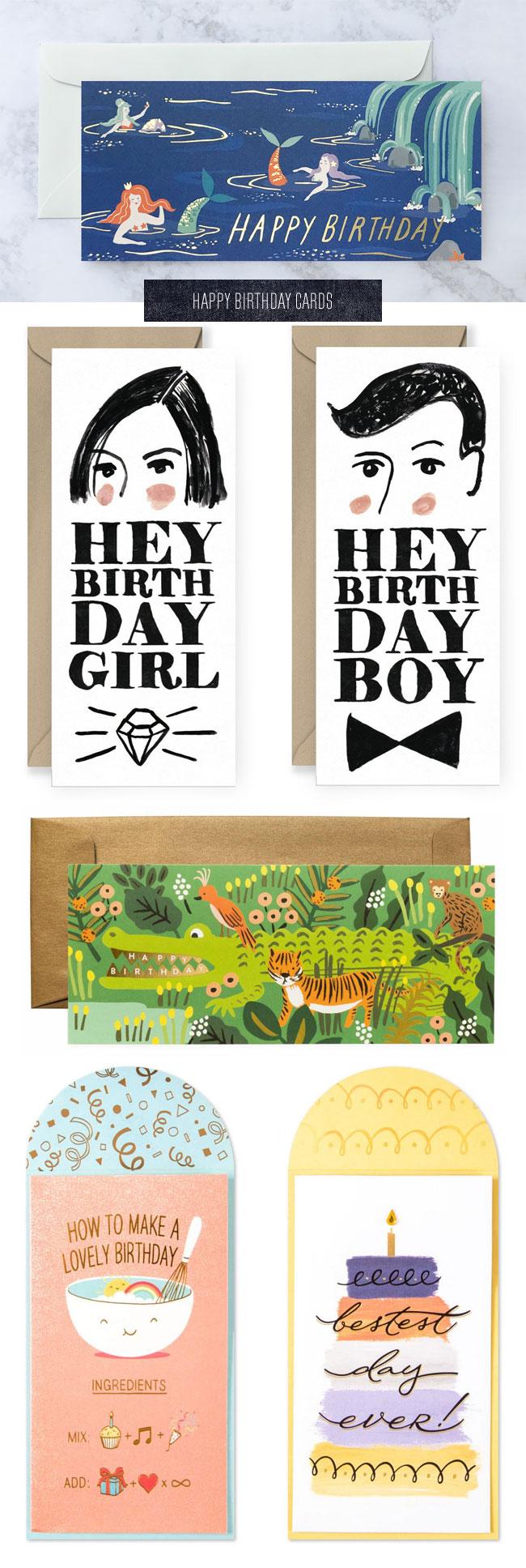 Tall Happy Birthday Cards
