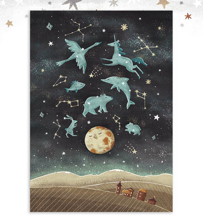 Constellations Art Print by Dot Boat / Daria Danilova