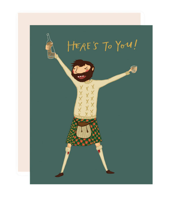 Here's to You Card by Pencil Joy