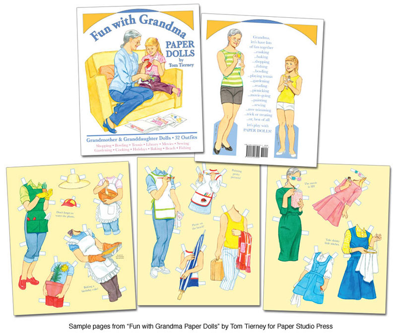 Fun with Grandma Paper Dolls Nostalgic paper play  Paper Dolls of