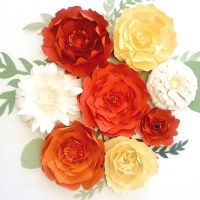 Large paper flower wall decor, backdrops for events or ...