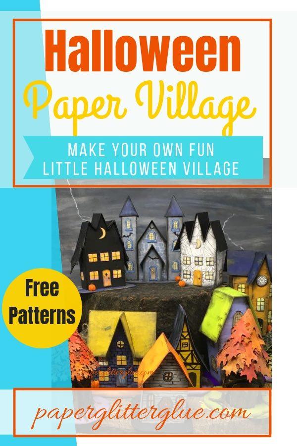 Halloween Paper House No 13 -Vlad\u0027s Castle - Paper Glitter Glue