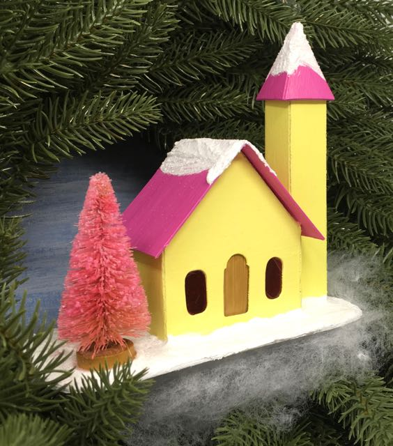 Little Church with Side Steeple - the 12 Houses of Christmas