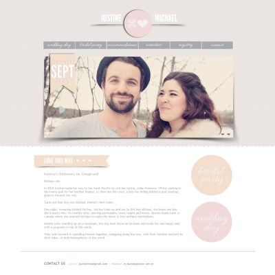 Wedding Website: Sneak Peak