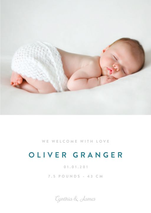 Photo Baby Announcement Cards  Birth Announcement Cards