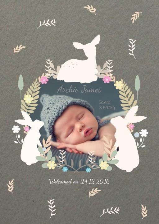 E Birth Announcements Ecru Ribbon Tie Birth Announcement Birthfunny