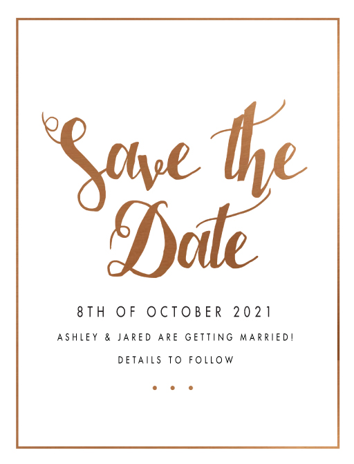 Spring Collection Digital Printing Save The Date - save the date template