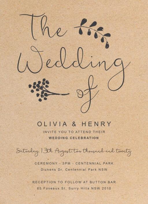 Charcoal Rustic DP Wedding Invitations