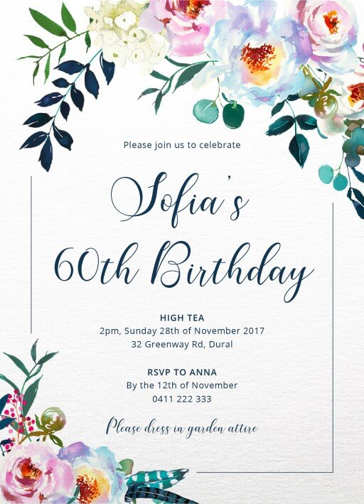 Birthday Party Invitations Customize And Print Online - Paperlust