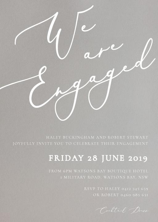 Engagement Party Invitations Design It Online - Paperlust
