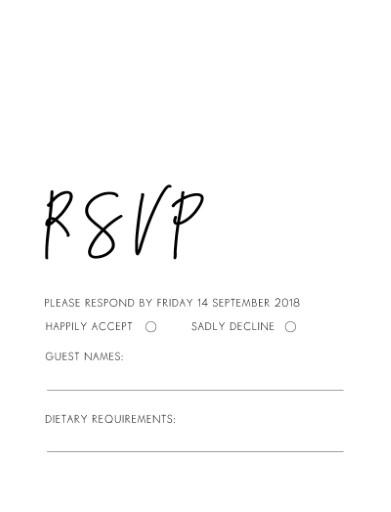 Rsvp Cards, Australia\u0027s Best Local Designs - Printed By Paperlust