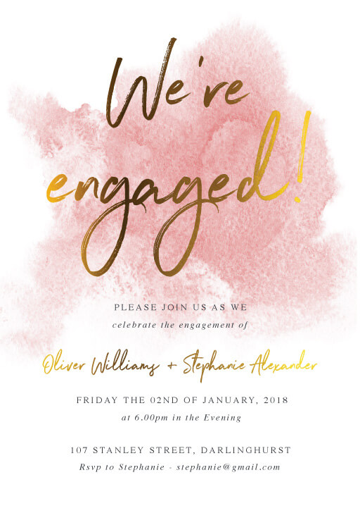 Engagement Party Invitations Design It Online With Paperlust