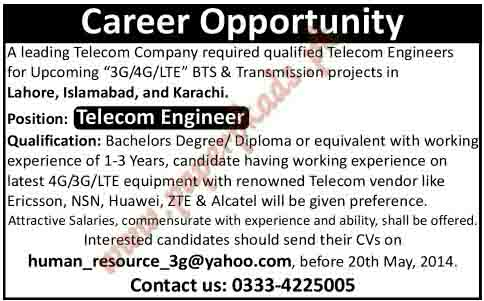 Telecom Engineer Jobs - PaperPk