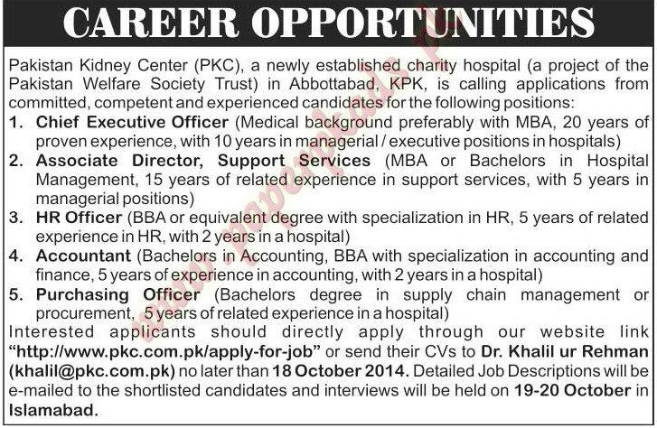 Chief Executive Officer, Associate Director, HR Officer, Purchasing