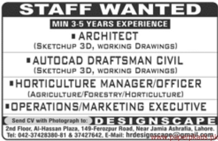 Architect Autocad Draftsman Civil and Other Jobs 2018