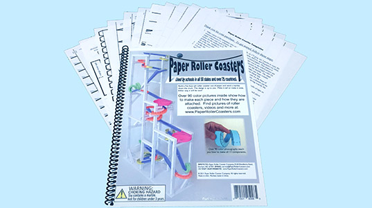 paper roller coaster templates free