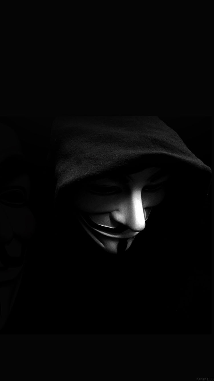Badass Iphone Wallpaper Aa71 V For Vendetta Face Art Papers Co