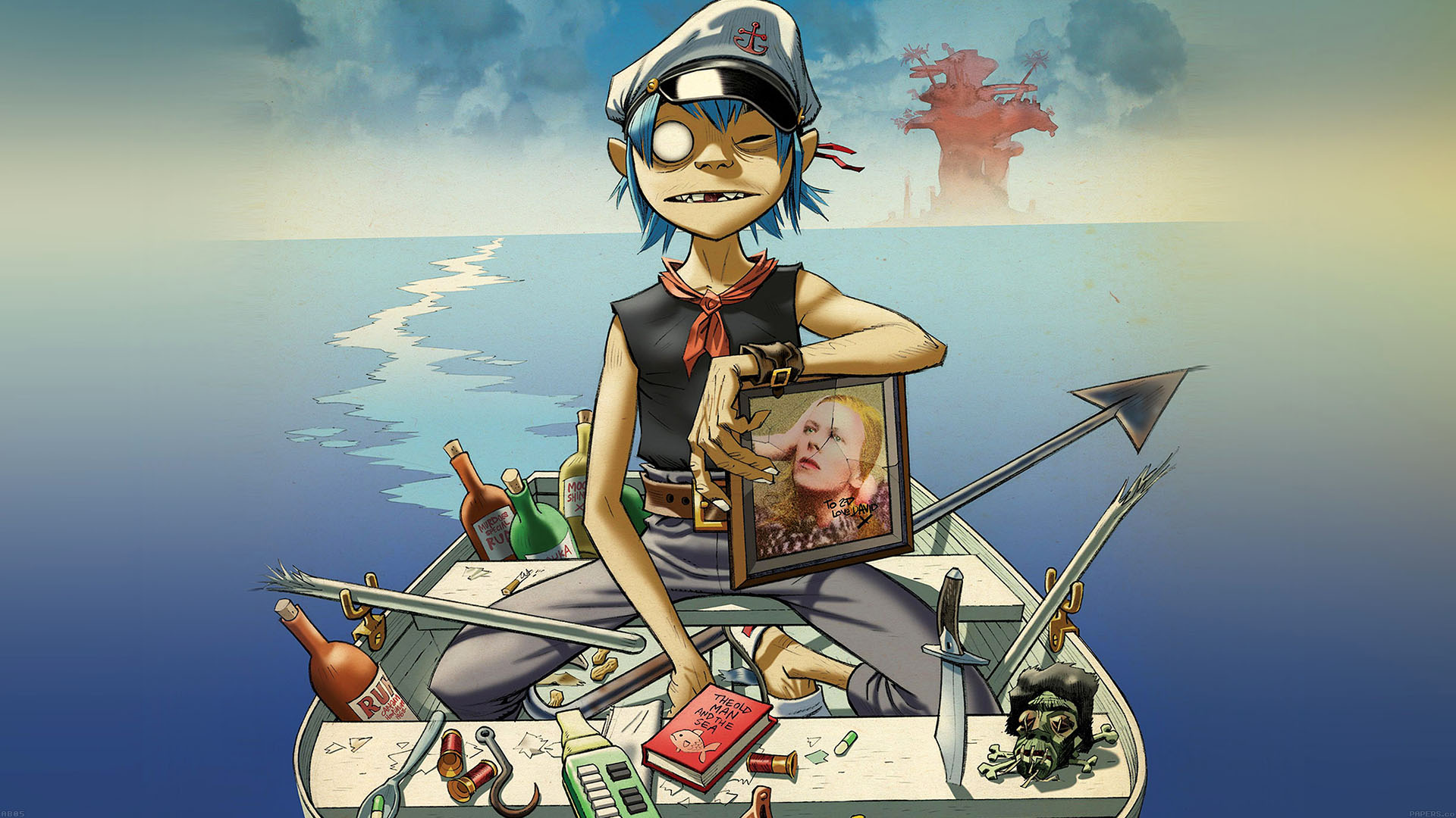 Laptop Wallpapers Fall Ab05 Wallpaper Gorillaz Boat Illust Music Papers Co