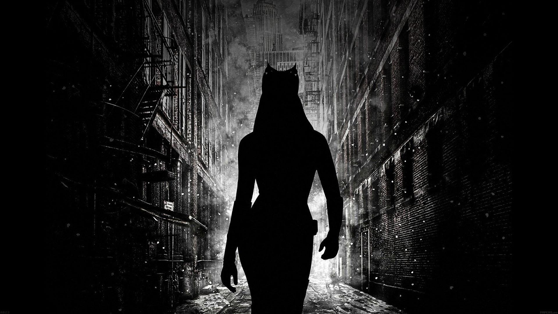 Black Cat Fall Wallpaper Ab23 Wallpaper Catwoman Walking Dark Papers Co