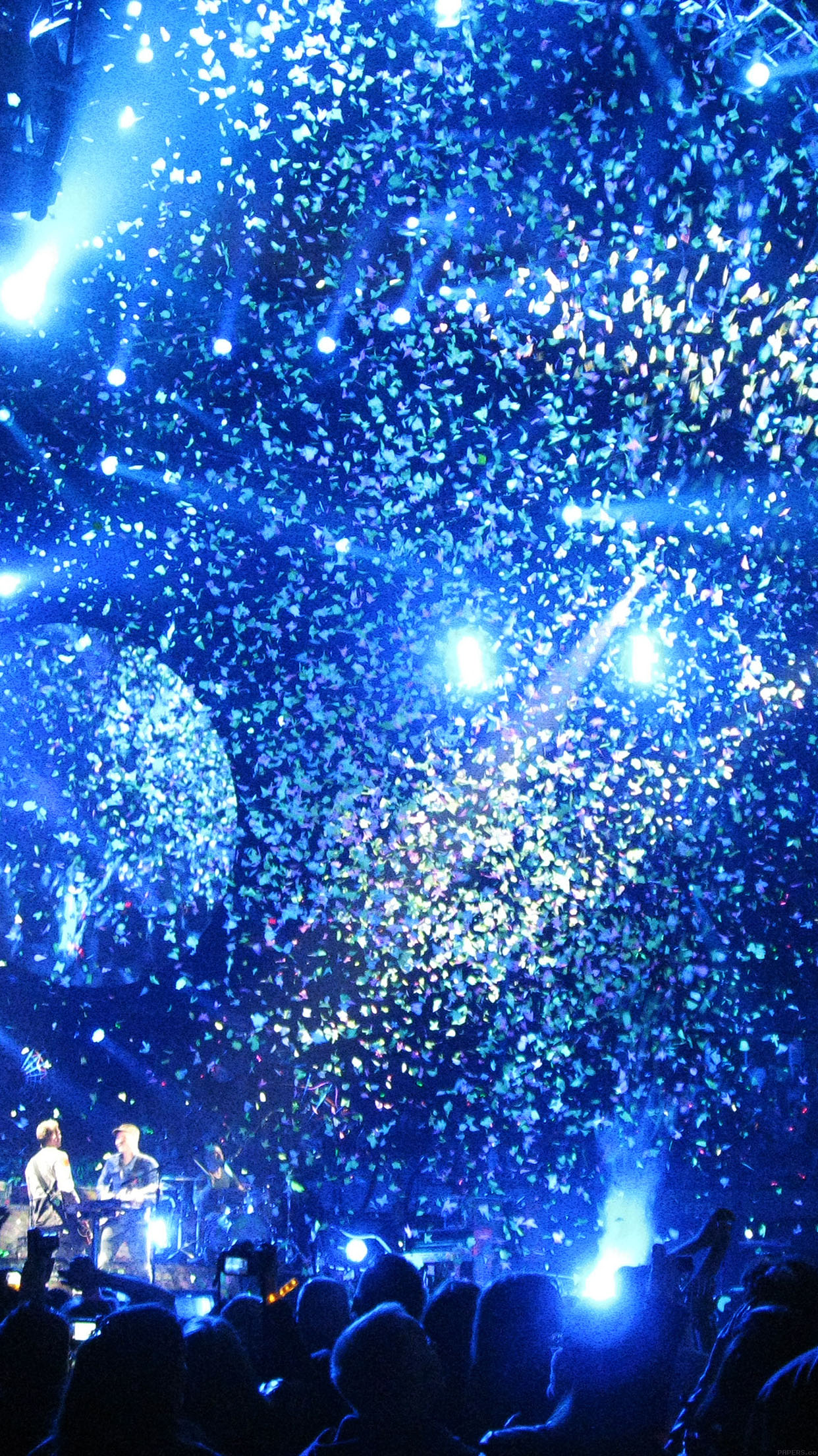 Xmas Wallpaper Iphone Ab51 Wallpaper Coldplay Concert Blue Papers Co
