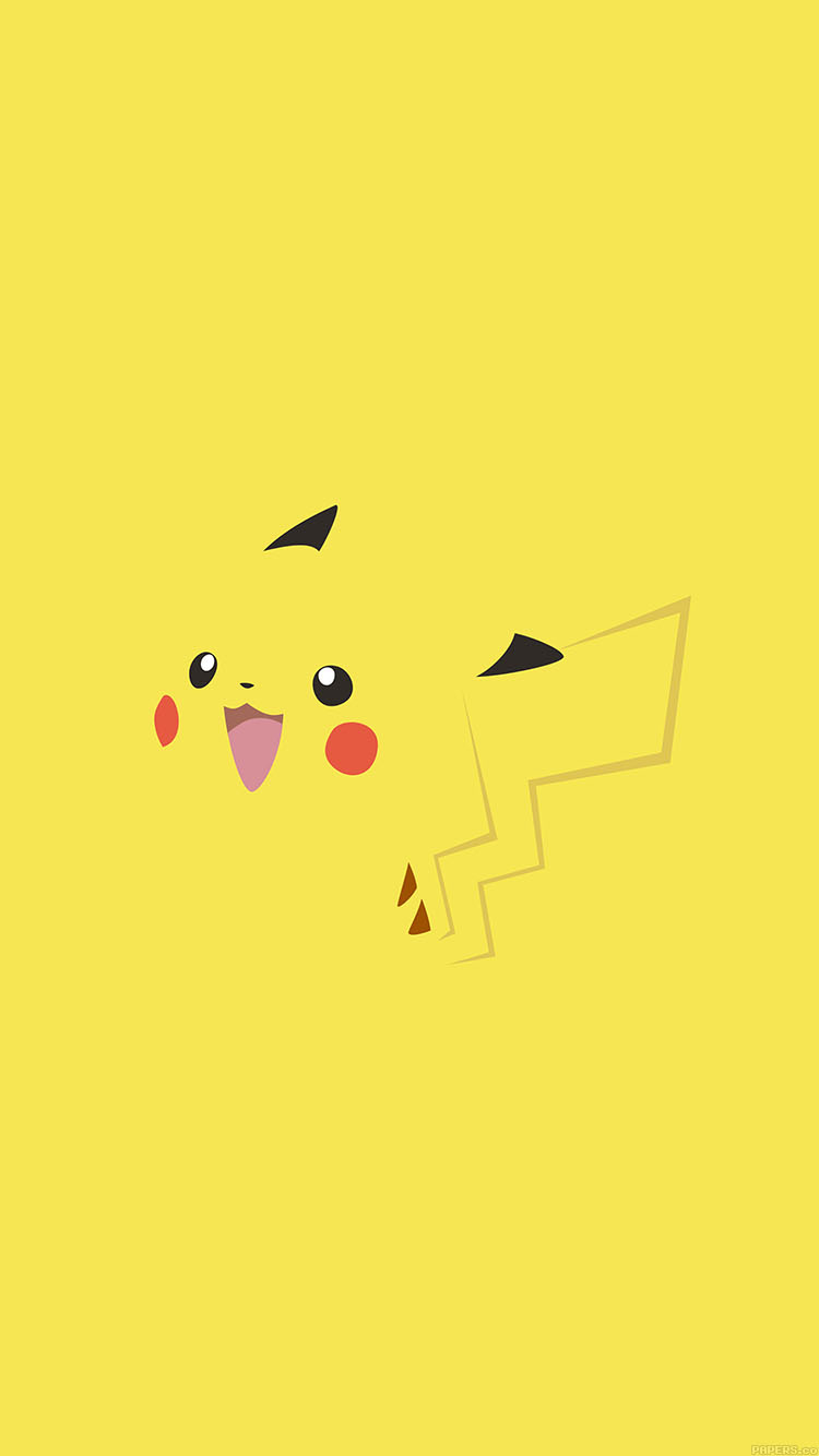 Pikachu Iphone 6 Wallpaper Ab71 Wallpaper Pikachu Yellow Anime Papers Co