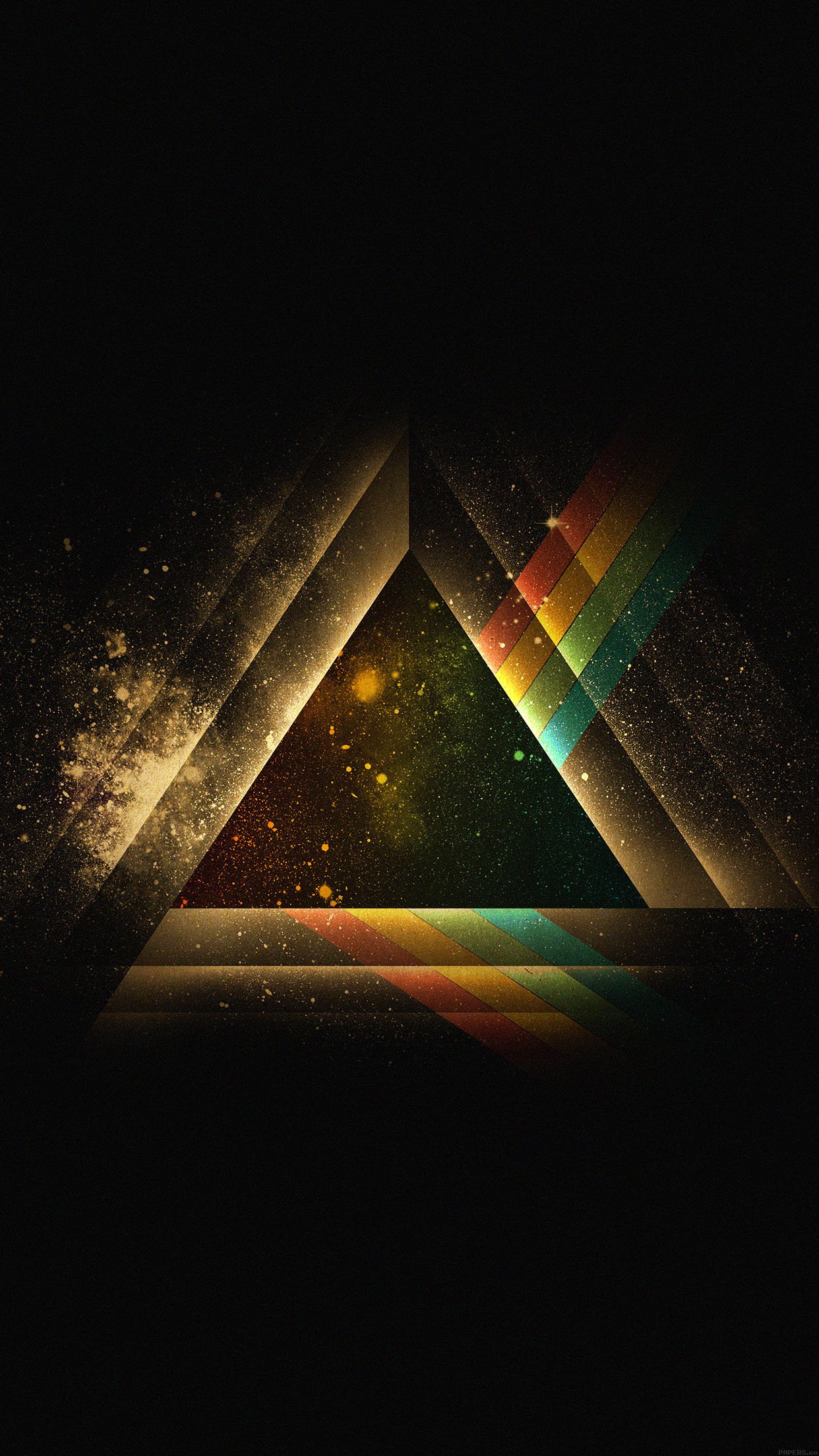 Hd Car Wallpaper For Iphone 6 Ac07 Wallpaper Triangle Art Rainbow Illust Graphic Papers Co