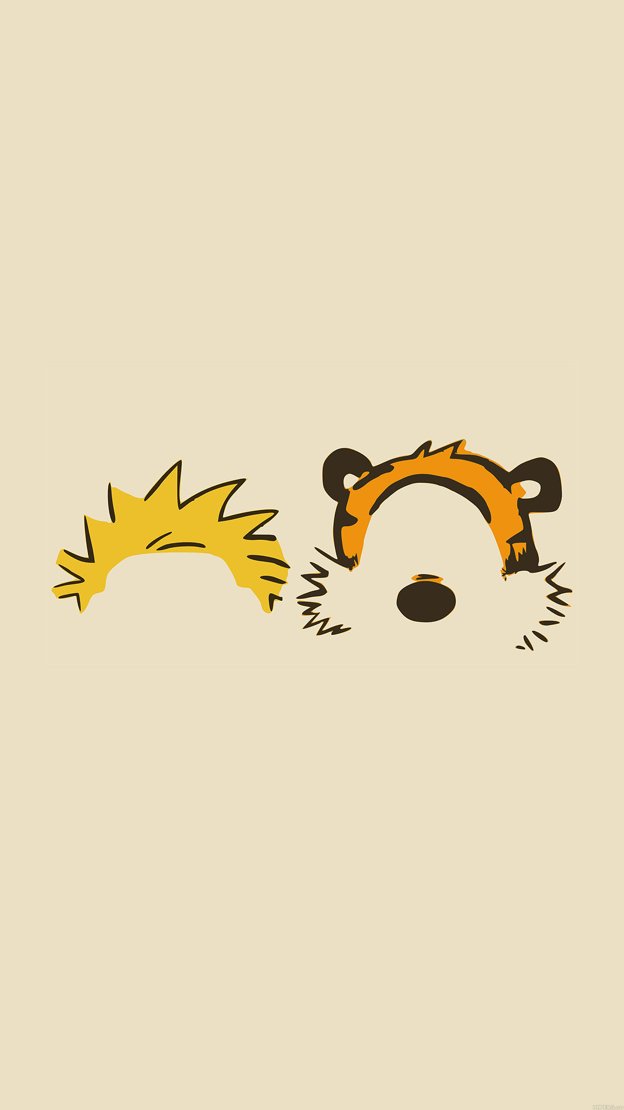 Cute Wallpapers For Samsung Ac27 Wallpaper Calvin Hobbes Minimal Illust Papers Co