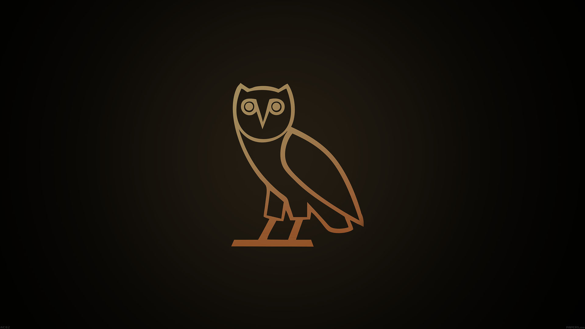 Cute Owl Wallpaper For Mac Ac82 Wallpaper Ovo Owl Logo Dark Minimal Papers Co
