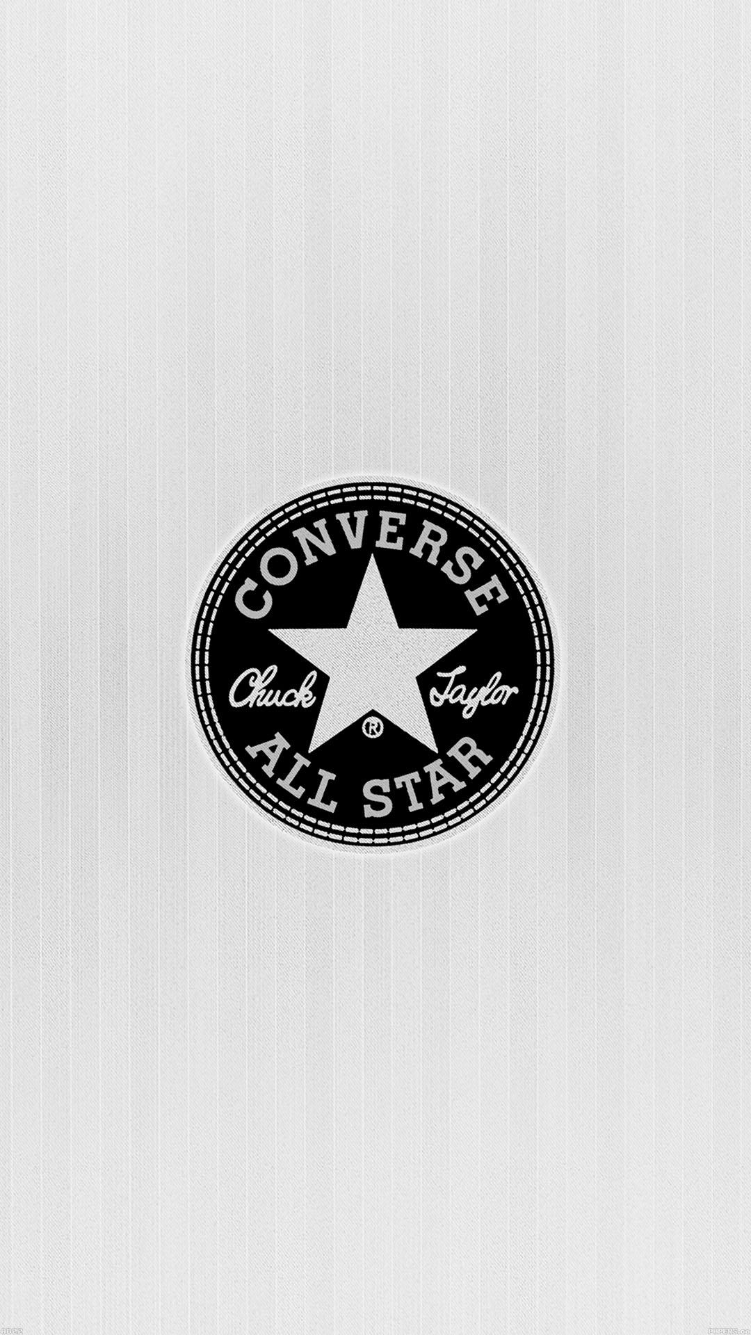 Cute Lock Screen Wallpaper Iphone Ad22 Converse Allstar Logo White Papers Co