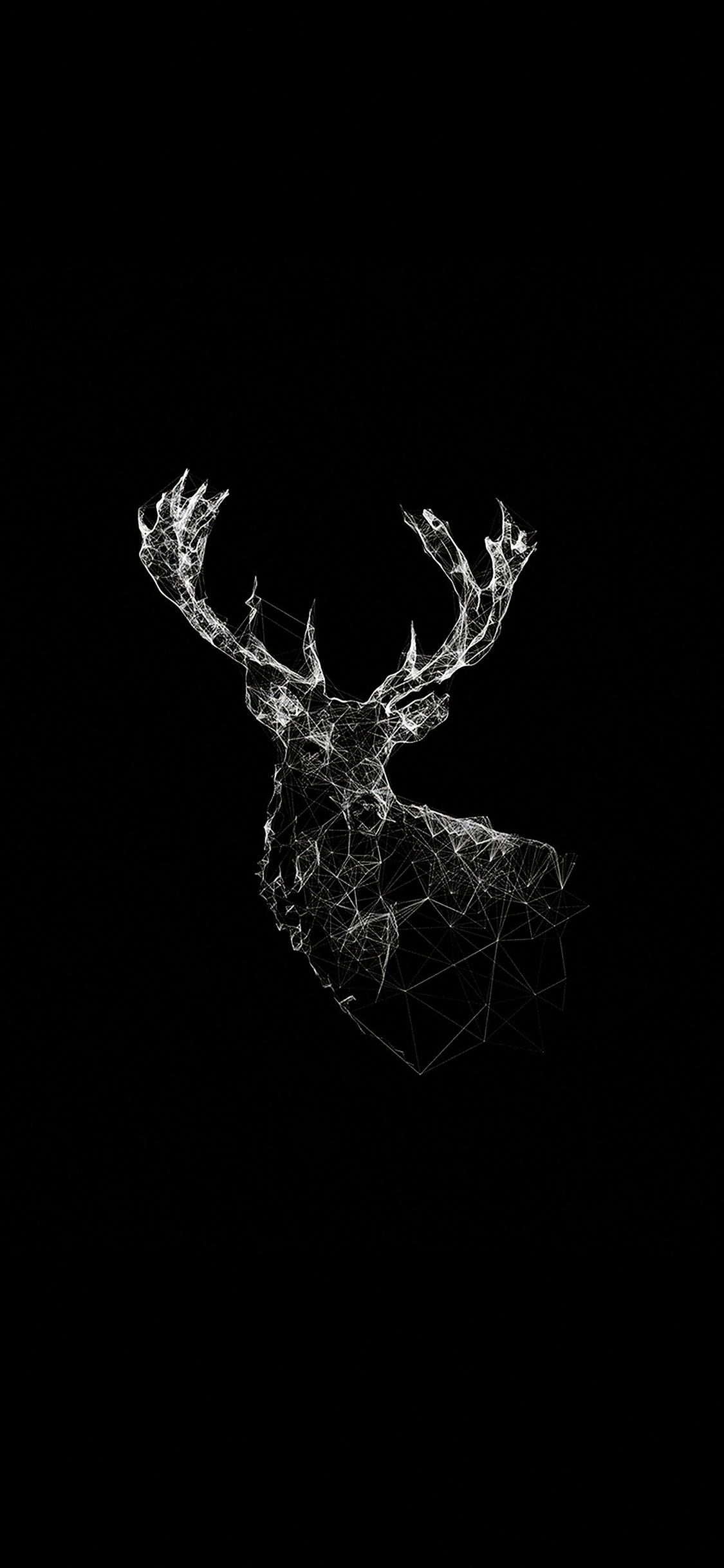 Disney Wallpaper For Iphone 5 Ad29 Deer Animal Illust Dark Papers Co