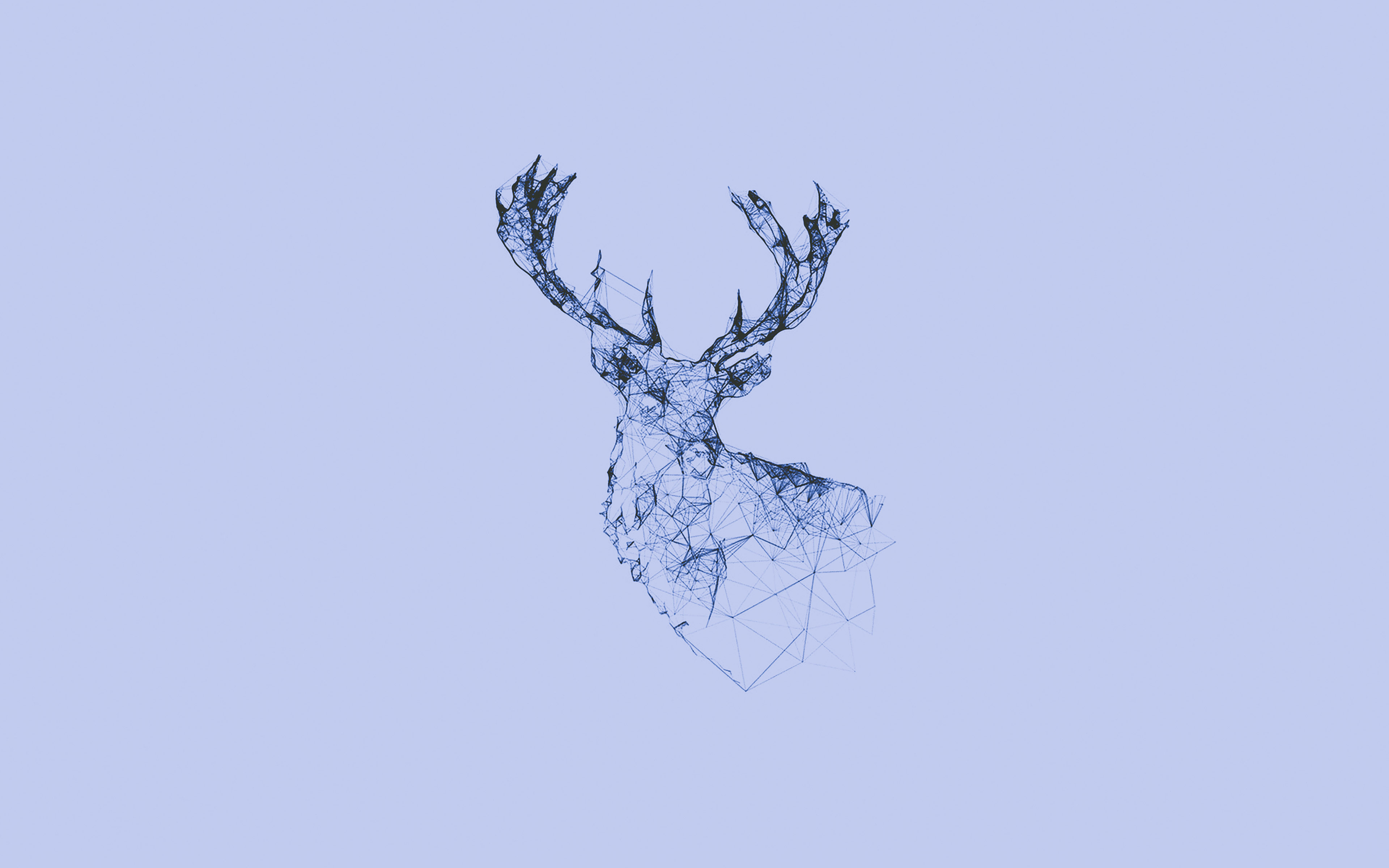 Fall Wallpaper Ipad Air 2 Ad30 Deer Animal Illust Blue Papers Co