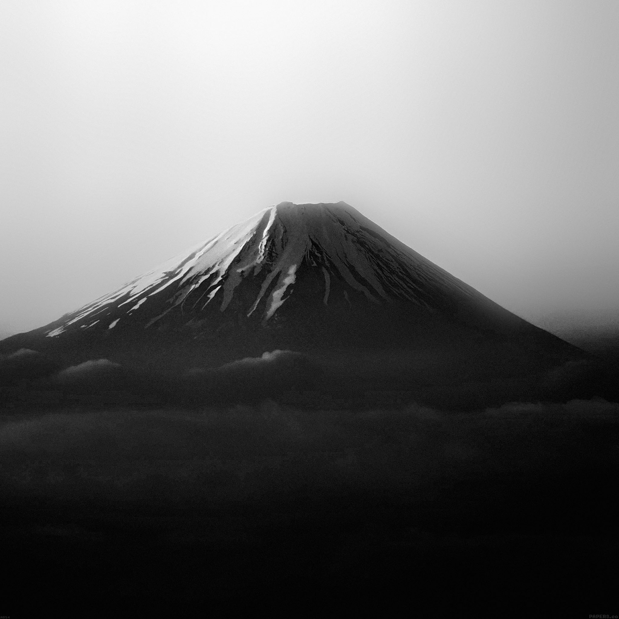 Cell Wallpaper Hd Illustration Fall Freeios7 Ad54 Fuji Dark Mountain Alone Parallax Hd