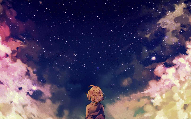 Wallpaper 3440x1440 Girl Ad65 Starry Space Illust Anime Girl Wallpaper