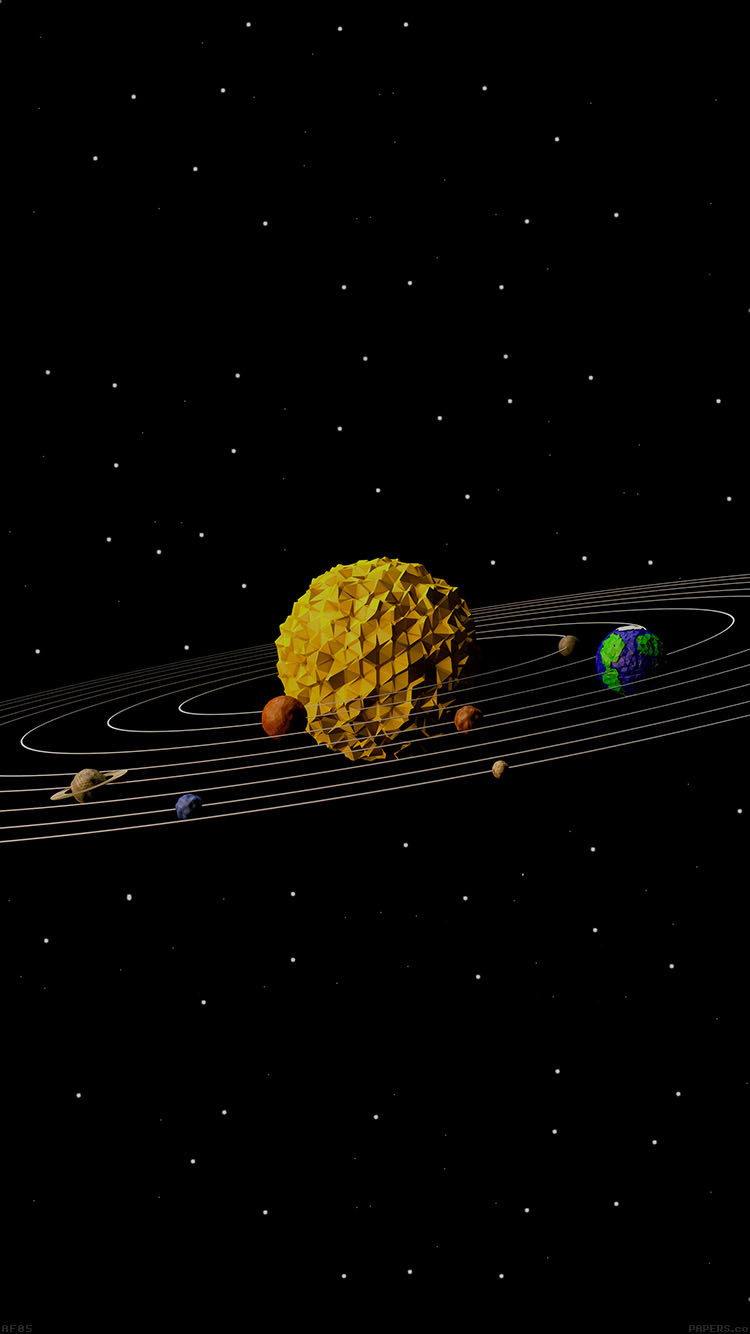 Hd Ipad Retina Wallpapers Af05 3d Solar System Space Art Minimal Papers Co
